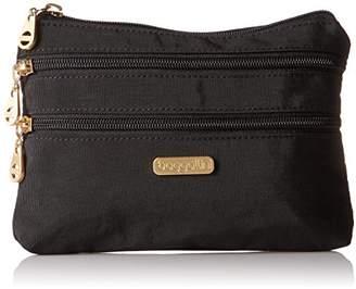 Baggallini Gold International Shanghai 3 Zip Case BLK Cosmetic Bag