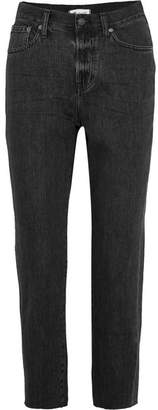 Madewell The Perfect Summer Cropped High-rise Straight-leg Jeans - Black
