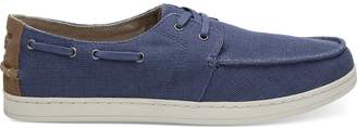 Toms Cadet Blue Heritage Canvas Men's Culver Boat Shoes