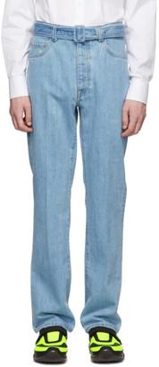 Prada Blue Snow Jeans