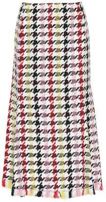 Oscar de la Renta Houndstooth wool-blend skirt