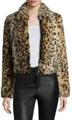 Joe's Jeans Kate Faux Fur Leopard Bomber