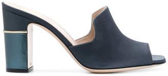 Pollini open toe mules