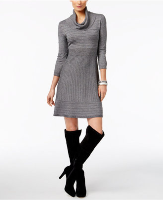 INC International Concepts Cowl-Neck Sweater Dress, Only at Macy's $99.50 thestylecure.com