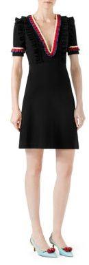 GucciGucci Ruffled Viscose Jersey Dress