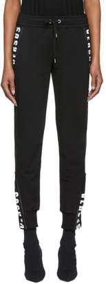 Versus Black Logo Zipped Lounge Pants