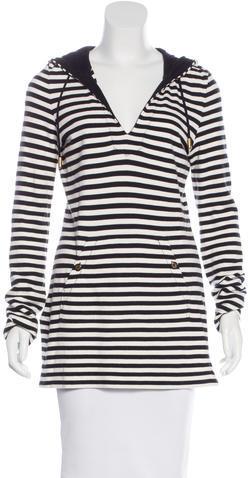 Tory BurchTory Burch Hooded Striped Sweatshirt