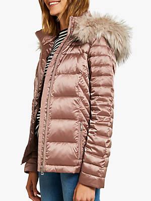 Clove Faux Fur Jacket, Light Pink