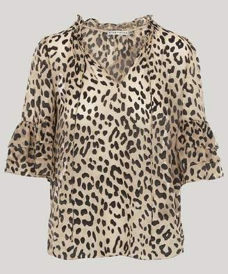 Alice + Olivia Julius Silk Tunic Top