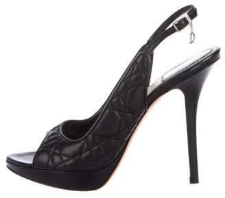 Christian Dior Leather Platform Pumps Black Leather Platform Pumps