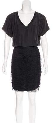 Theory Lace Paneled Dress