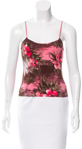 BlumarineBlumarine Floral Print Sleeveless Top