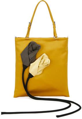 Prada Satin Flower Tote Bag