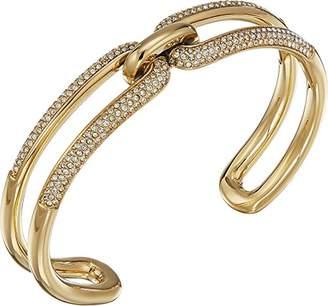 Michael Kors Brilliance Iconic Links IP Open Cuff Bracelet