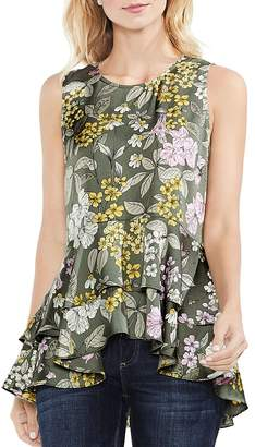 Vince Camuto Floral Tiered-Peplum Top