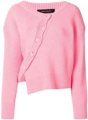 Cédric Charlier asymmetric button front jumper