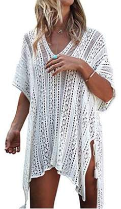 254882e9e0029 at Amazon Canada · Xugq66 Women s Summer Bohemian Crochet Swim Cover up  Bikini Tunic Beach with Tassels Dress
