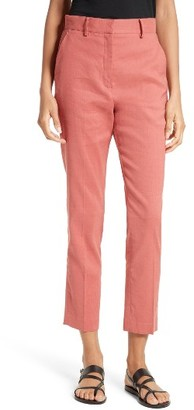 Women's Theory Lenoria Stretch Linen Blend Crop Pants $285 thestylecure.com