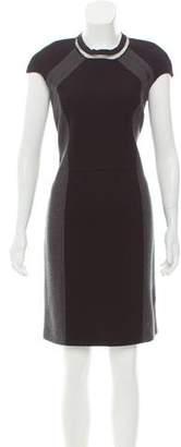 Fendi Virgin Wool Colorblock Dress