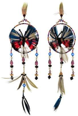 Valentino Beaded Butterfly Earring