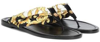 Versace Fabric and leather sandals