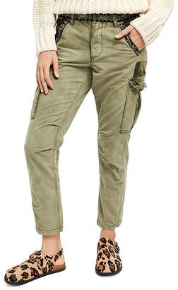 Free People Wild Nothing Embroidered Cargo Pants
