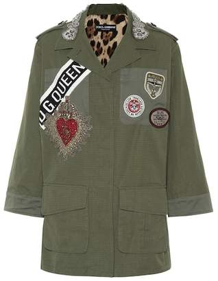 Dolce & Gabbana Appliquéd cotton jacket