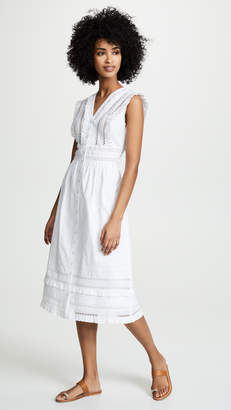 Sea Lilli Eyelet Sleeveless Midi Dress