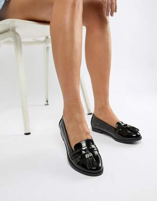 Faith Black Patent Attie Loafer
