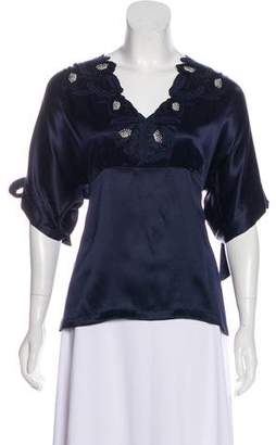 Paul & Joe Silk Embellished Blouse