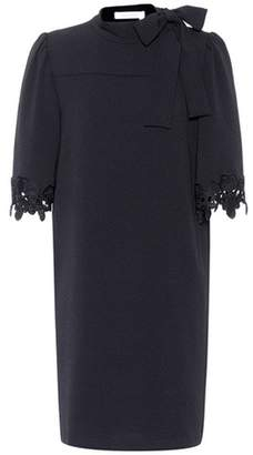 See by Chloe Lace-trimmed crêpe dress
