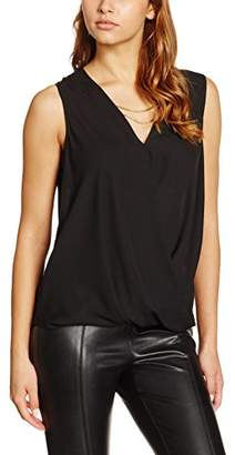New Look Women's Necklace Wrap Cold Shoulder Shell T - Shirt,6