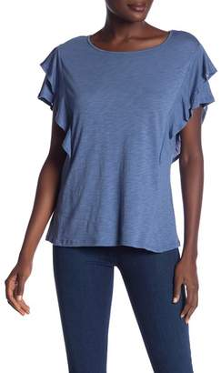 Cynthia Steffe CeCe by Tiered Ruffle Sleeve Top