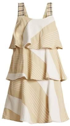 Ace & Jig - Simone Tiered Cotton Blend Dress - Womens - Beige Multi