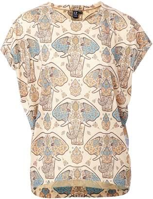 Dorothy Perkins Womens *Izabel London Beige Elephant Print T