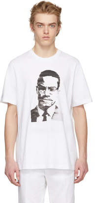 Oamc White Malcolm X T-Shirt