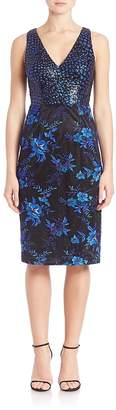 David Meister Women's Printed Sheath Cocktail Dress