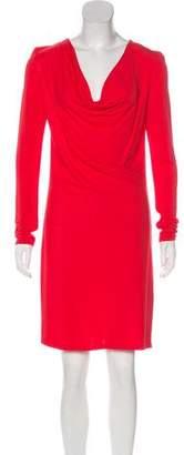 Haute Hippie Long Sleeve Mini Dress