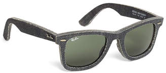 Brooks Brothers Ray-Ban Wayfarer Black Denim Sunglasses