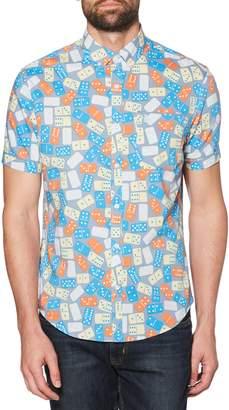 Original Penguin Domino Print Woven Shirt