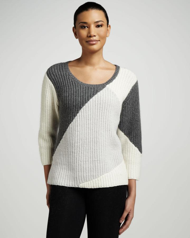 Lauren Hansen Colorblock Ribbed Sweater