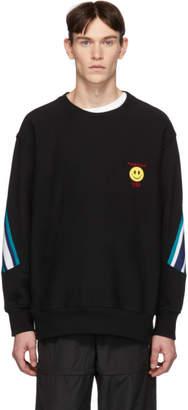 Facetasm Vier Black Edition Smiley Patch Sweatshirt
