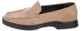Tod's Woven Round-Toe Loafers