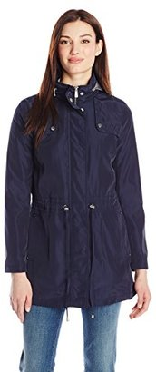 Kenneth Cole Women's Front Anorak with Hood $26.97 thestylecure.com