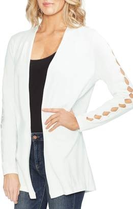 Vince Camuto Cutout Sleeve Open Front Cardigan