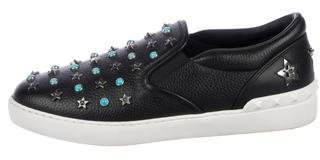 Valentino Embellished Slip-On Sneakers
