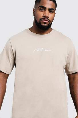 boohoo Big & Tall MAN Signature Embroidered T-Shirt
