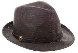Melissa Odabash Straw Fedora Hat