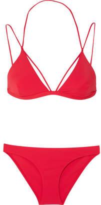 Dion Lee Fine Line Triangle Bikini - Red
