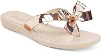 GUESS Tutu Bow Flip Flops Women Shoes